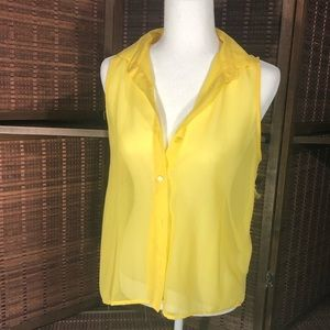 *free* with purchase Lightweight yellow blouse